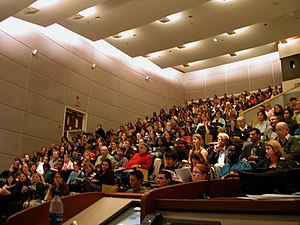 Class size - A large class at the University of Ottawa.