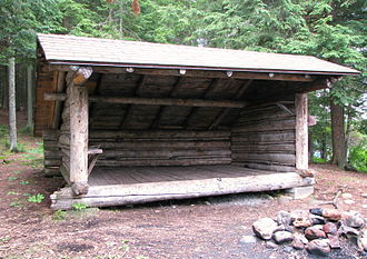 Lean-to - A typical lean-to in the Adirondacks