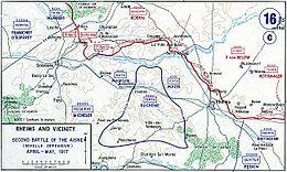 chemin des dames 1917 carte Bataille du Chemin des Dames — Wikipédia