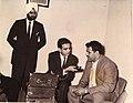 Ajit Chaggar, Amarjit Singh, Dara Singh interviewed by Chaman Lal Chaman. Pritam Chaggar on left. Nairobi. 1962. Photo by Ajit Chaggar.jpg