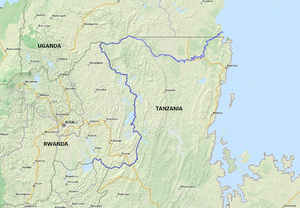 Kagera River - Map of the Kagera River