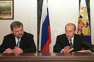 Akhmad Kadyrov - Akhmad Kadyrov and Vladimir Putin.