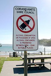Alcohol restriction in Victoria, Australia.