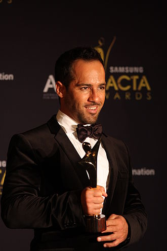 Alex Dimitriades - Dimitriades with his AACTA Award, 2012