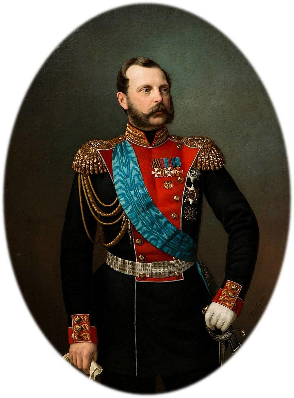 Alexander II by Ivan Tyurin (1860s, GIM)