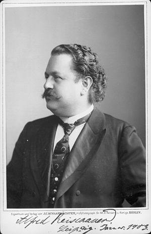 Alfred Reisenauer - Portrait by J. C. Schaarwächter