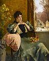 Alfred Stevens Femme pensive près d'une fenêtre.jpg