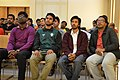 Ali Haidar Khan, Tanweer Morshed, Moheen Reeyad & Ashiq Shawon at Wikipedia 15 celebration in BSK (01).jpg