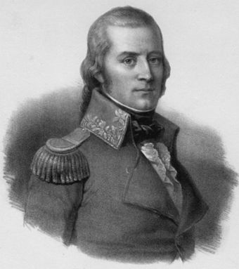 Alois von Reding led Central Swiss troops against the French.