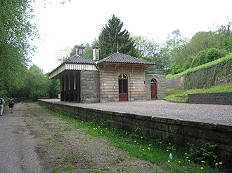 Alton Station - The remains of Alton Towers railway station