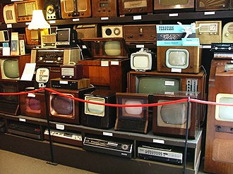 Japanese economic miracle - Japanese-made TV sets during the economic boom
