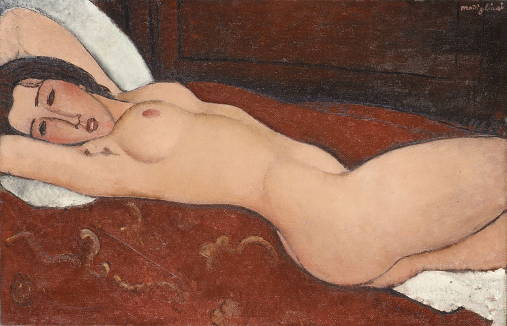 """Reclining Nude"" by Amedeo Modigliani"
