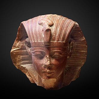 Amenhotep II - Sphinx head of a young Amenhotep II, Musée du Louvre.