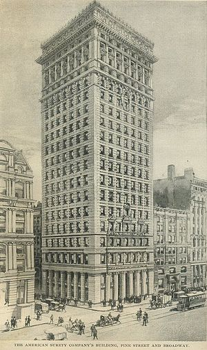 American Surety Building - 1898 drawing of the American Surety Building.