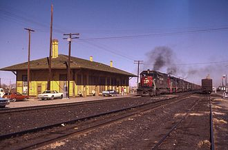 Deming, New Mexico - The old Deming train depot in 1983