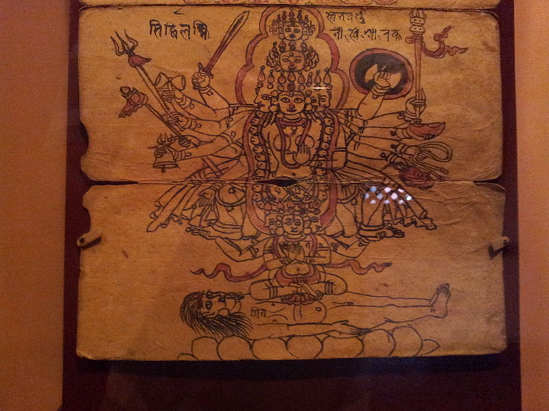 File:An illustration from a Tantric text in Patan museum 4.jpg