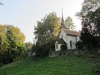 Cressier, Neuchâtel - Image: Ancienne église St Martin 1