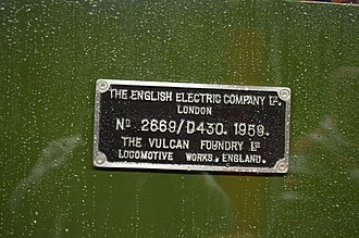 Vulcan Foundry - BR Class 40 no D213 Andania was one a hundred and eighty members of the class to be built at the Vulcan Foundry in Newton-le-Willows.