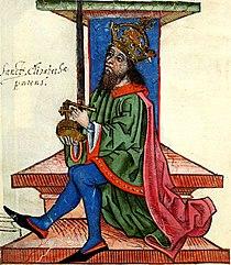 András ábrázolása a Thuróczi-krónikában