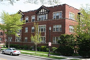 National Register of Historic Places listings in Evanston, Illinois - Image: Andridge Apartments 1