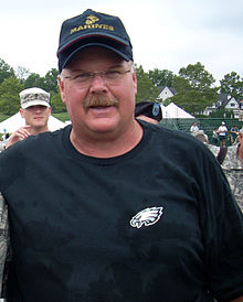 Andy Reid at Eagles training camp 2010-08-03.jpg