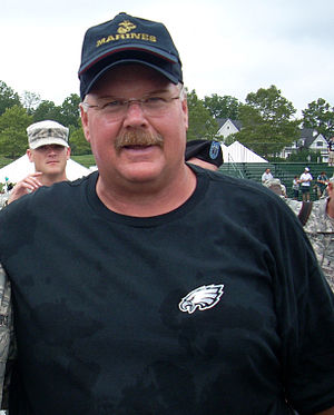 Andy Reid, Philadelphia Eagles' coach, after t...