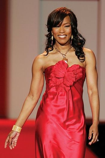 Angela Bassett modelling in the 2007 Red Dress...