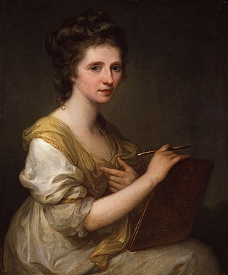 Angelica Kauffman - Self-portrait by Kauffman, 1770–75
