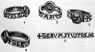 Gervais de Château-du-Loir - Sketch of Gervais's episcopal ring