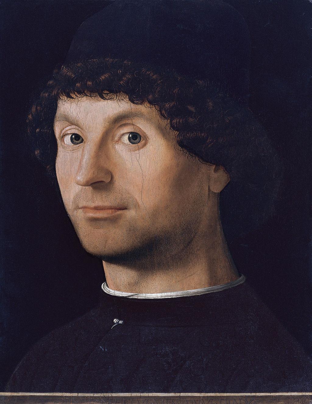 Antonello da Messina (1430–1479), Ritratto di giovane, 1475-1476 circa, olio su tavoletta incollata su compensato, 27,5×21 cm, Madrid, Museo Thyssen-Bornemisza
