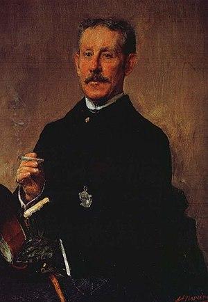 Daniel Sargent Curtis - Portrait of Curtis by Antonio Mancini, c. 1880s