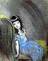 Antonio de La Gandara – Portrait de la fille Klotz – Fillette à la robe bleue.jpg