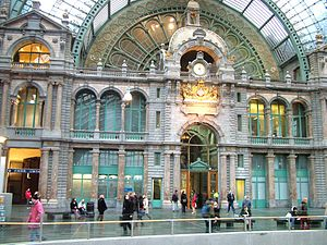 Louis Delacenserie - Image: Antwerpen central station
