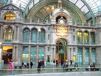 Louis Delacenserie - Image: Antwerpen central station