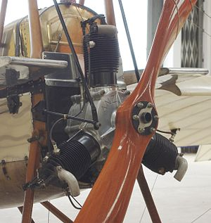 Anzani 3-cylinder fan engines - Anzani inverted Y-type aero engine in a Deperdussin (Shuttleworth Collection), and nearly identical to Old Rhinebeck's Bleriot XI engine