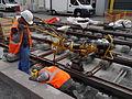 Anzin & Valenciennes - Travaux de raccordement des lignes A & B du tramway de Valenciennes à la Croix d'Anzin le 20 août 2013 (13).JPG