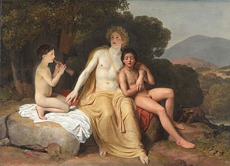 Cyparissus - Apollo, Hyacinthus and Cyparissus Making Music and Singing by Alexander Andreyevich Ivanov