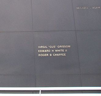 Roger B. Chaffee - Chaffee's name, along with Grissom's and White's, on the Space Mirror Memorial