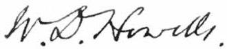 William Dean Howells - Image: Appleton's Howells William Dean signature
