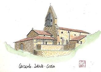 L'origine des Journées du patrimoine dans FONDATEURS - PATRIMOINE 330px-Aquarelle_de_l%27%C3%A9glise_de_Carcar%C3%A8s-Sainte-Croix
