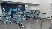 Balcão de Check-in Azul