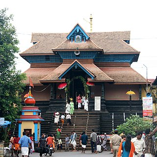 Aranmula Parthasarathy Temple building in India