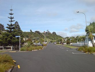 Arch Hill, New Zealand - Looking east along Ivanhoe Road towards Arch Hill Reserve.