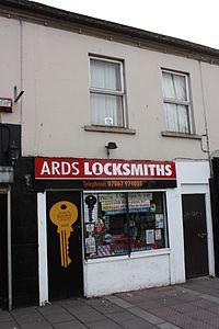 Ards Locksmiths, Newtownards, March 2010.JPG