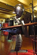 Armour for a jousting tournament Knight including part of a lance 02.JPG