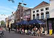 Arnhem central meeting point for everybody, Korenmarkt. Lots of bars and restaurants and people enjoying sunshine - panoramio.jpg