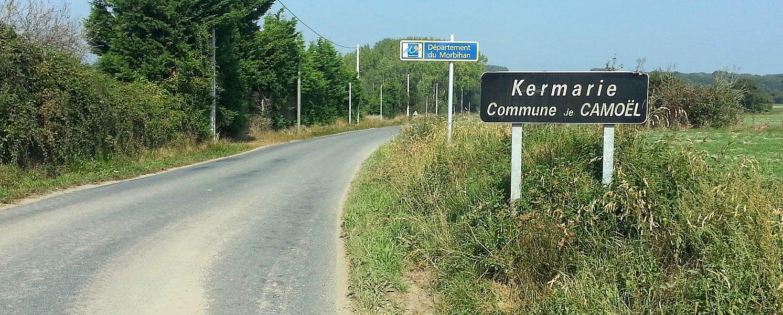 Arrivée dans le Morbihan, vers Camoël