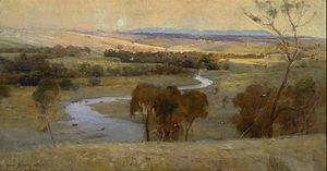 Arthur Streeton - ′Still glides the stream, and shall for ever glide′, 1890, Art Gallery of New South Wales