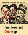 Arthur Szyk (1894-1951). Two Down and One to Go pamphlet (1945), Washington DC.jpg