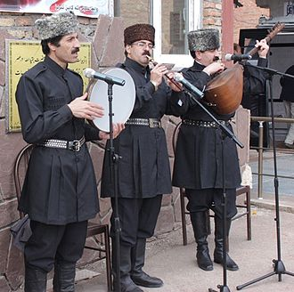 Azerbaijanis - Ashiks performance  in Tabriz